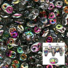 Czech SuperDuo Crystal Vitral 2x5mm Two Hole Glass Seed Beads SD-V0003