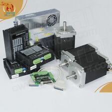 Hot! Wantai Motor 3 Axis Nema34 Stepper Motor1232oz-in,5.6A WT86STH118-6004A KIT