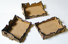 15mm WW2 3 x Ruined Terraced Houses (Style 1), FOW Flames of War
