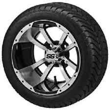 Set of ITP 12 SS HD LSI Aluminum Alloy Golf Cart Car Rims Wheels & Tires Mounted