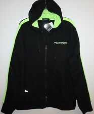 Polo Sport Ralph Lauren Mens Black Neon Full-Zip Hoodie Sweat Jacket NWT $115 L