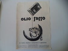 advertising Pubblicità 1956 OLIO SASSO