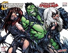 NYCC 2016 EXCLUSIVE AMAZING SPIDERMAN 19 CHAMPIONS 1 RAMOS COLOR VARIANT SET