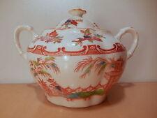 Sucrier XIX 19 siecle service thé porcelaine anglaise Allertons décor Minton