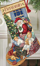 Cross Stitch Kit ~ Gold Collection Sweet Dreams Santa Christmas Stocking #8740
