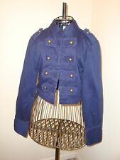 Attn. Steampunk Fans! MKM Designs Navy Blue Military Style Jacket Sz L