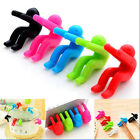 2X Little Men Silicone Spoon Rest Pot Clip Anti-overflow Gadget Kitchen Tool Hot