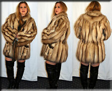 New Reversible Dyed Fisher Fur Jacket- Size Large 10 12 L - Efurs4less