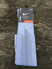 Nike Elite Compression Running Socks Grey Mens Womens OTC Over Calf UK13-15 NEW
