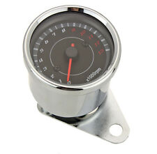 Universal Motorcycle LED Backlight Tachometer Speedometer Tacho Gauge Silver