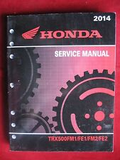 2014 TRX500FM1 FE1 FM2 FE2 TRX 500 Honda Original Service Repair Shop Manual D05