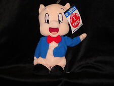Porky Pig Squeeze Me I Talk bean bag plush Warner Looney Tune new with tags