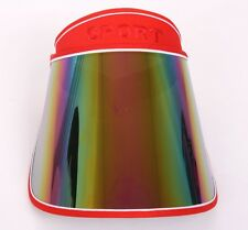 Sun Visor Cap UV Protection Sun Block Outdoor Adjustable Angle Wide Hat - RED