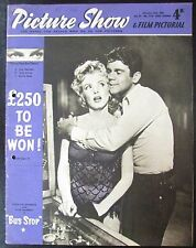 CINEMA MARILYN MONROE et DON MURRAY FILM BUS STOP  MAGAZINE PICTURE SHOW 1956