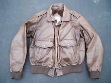 Vintage Berman's Leather Men's Riding Cruising Motorcycle Biker Jacket Coat 42