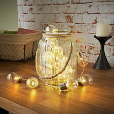 20 LED Retro Electric Lightbulb Warm White Battery String Lights Home Decor