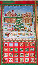 Christmas Village Advent Calendar Christmas Fabric Panel #103-62602