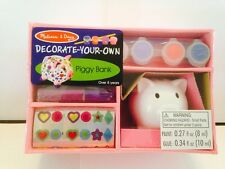 Melissa & Doug Decorate Your Own Piggy Bank New