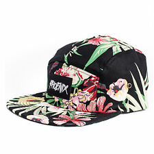 Phoenix Oahu 5-Panel Cap Hat Volley Floral Five Casquette Palms Beach Hawaii USA