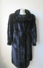 Women's Sz 12 Natural Dark Ranch Mink Fur Coat MINT+ CLEARANCE SALE