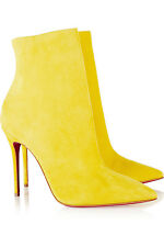 **CHRISTIAN LOUBOUTIN** So Kate 100 Yellow Suede Boots