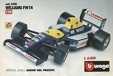 X0080 Williams FW14 - BBURAGO - Pubblicità 1992 - Vintage Advertising