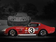 "1968 Chevrolet Corvette L88 Racing Hot Rod Mini Poster 13""x19"" HD"