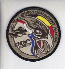 Org Patch:   349 squadron Operation Dessert Falcon + velcro  Belgian Air Force
