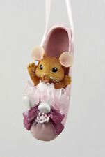 KURT S. ADLER MOUSE IN PINK BALLET SHOE BALLET SLIPPER CHRISTMAS ORNAMENT