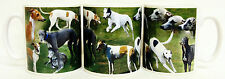 Greyhound Mug Ceramic Collage Greyhound Scenes Mug Hand Decorated in UK