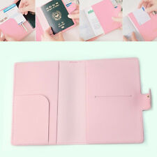 Sweet Bowknot Crown Buckles Passport Holder Protect Cover Case Organizer HOTq