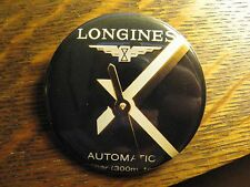 Longines Automatic Black Gold Wrist Watch Advertisement Pocket Lipstick Mirror