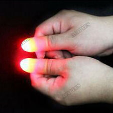 1Pair Magic Light Up Thumbs Fingers Trick Tips Party Night Toy ACTPLUS