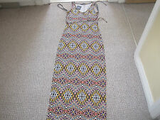 LONG DRESS SIZE 8 ATMOSPHERE NEW WITH TAG MULTI COLOURED SLEEVELESS BELT VISCOSE