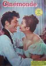 CINEMA FARLEY GRANGER ZIZI JEANMAIRE CLARK GABLE JOHN WAYNE N°990 CINEMONDE 1953