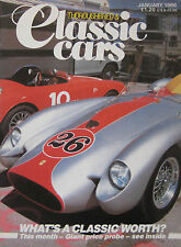 Thoroughbred & Classic Cars magazine 01/1986 featuring Bugatti T37, Fiat Turbina