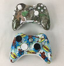 2x Custom Microsoft Xbox 360 Wireless Controllers - Tested - Free P&P