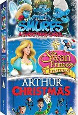 Arthur Christmas Smurfs Christmas Carol Swan Princess Christmas DVD New UK R2