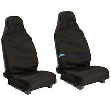 2PCS UNIVERSAL CAR/VAN WATERPROOF Nylon BLACK FRONT SEAT COVERS / PROTECTORS DH