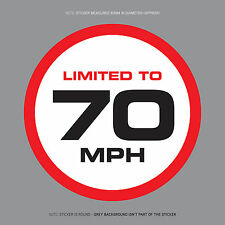 SKU1119 - LIMITED TO 70 MPH Vehicle Speed Restriction Sticker Vinyl Car Van 80mm