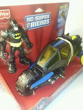 BATMAN, BATCYCLE & DVD • Large   • FISHER PRICE: DC Super Friends - HeroWorld
