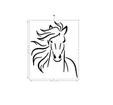 horse vinyl car sticker, decal, window laptop ORACAL 651
