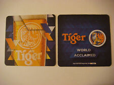 Bar Coaster ~*~ World Acclaimed Tiger Beer ~*~ Asia Pacific Breweries, SINGAPORE