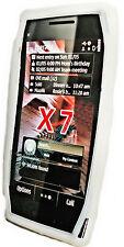Silicona TPU, móvil cover case funda en blanco para Nokia x7 + protector de pantalla