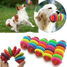 Durable Rubber Pet Dog Puppy Cat Dental Teething Healthy Teeth Gums Chew Toy LX
