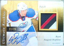 wOw!RC /25 RYAN NUGENT HOPKINS ULTIMATE ROOKIES PATCH JERSEY AUTO UD 2011 11 12