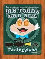 TIN-UPS Tin Sign Disney's Mr. Toad's Wild Ride Cartoon Attraction Art Poster