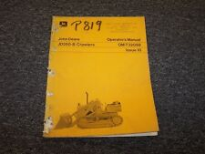 John Deere 350B Crawler Loader Owner Operator Maintenance Manual Guide OM-T32059