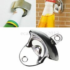 Stainless Steel Wall Mount Bar Wine Beer Soda Glass Cap Bottle Opener Open Tool