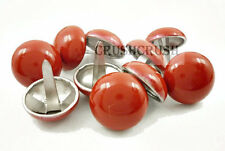 15pcs 20mm Red Dome Purse Feet Studs NAILHEADS Spike Studs Punk Rock Bags S338